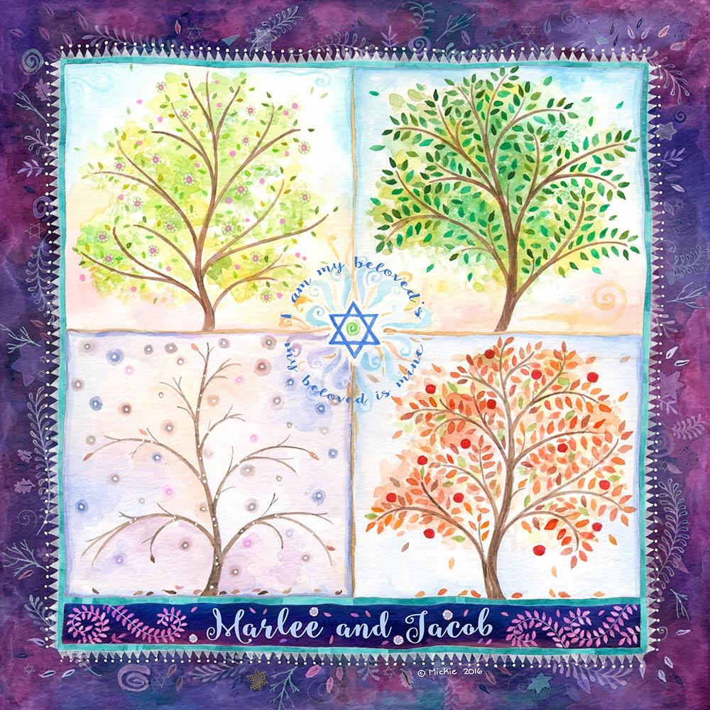 Seasons of Joy Lovers Gift LG-5b Purple by Mickie Caspi