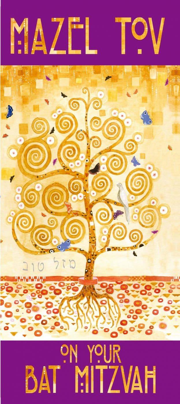 BT860 Bat Mitzvah Tree of Life Money Holder by Mickie Caspi