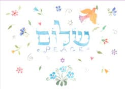 Shalom New Year Card Jewish New Year Cards Package by Mickie Caspi