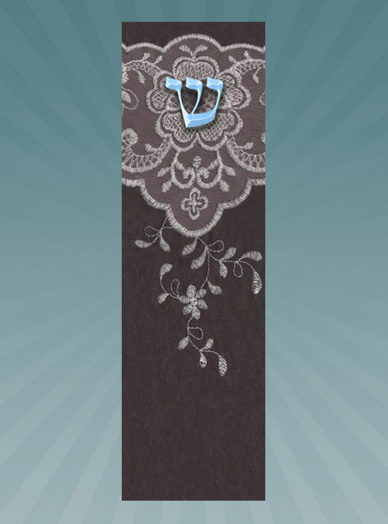 CM183 Embroidery Car Mezuzah by Mickie Caspi