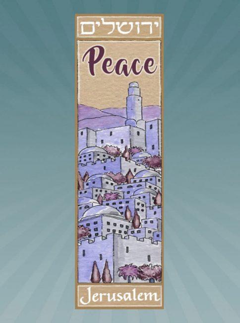 CM189 Jerusalem Peace Car Mezuzah by Mickie Caspi