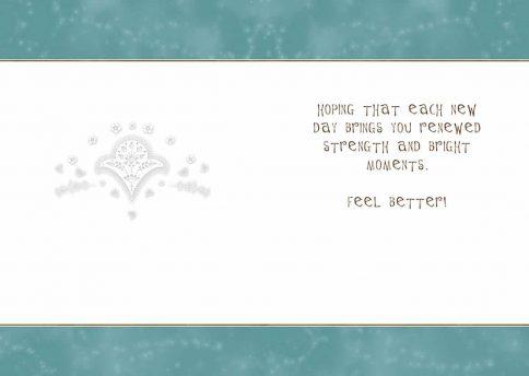 Get Well Jewish Illuminated Greeting Card