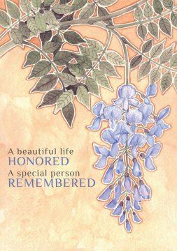 SY629 Sympathy Illuminated Jewish Greeting Art Card by Mickie Caspi