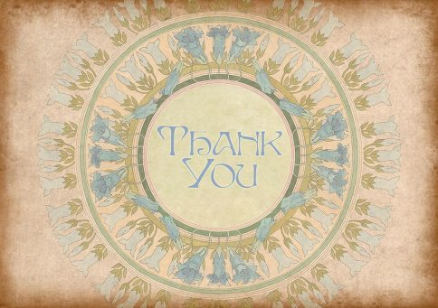 TY630 Thank You Jewish Greeting Card by Mickie Caspi
