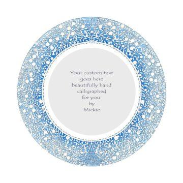 Blue Silhouette Original Ketubah by Mickie Caspi