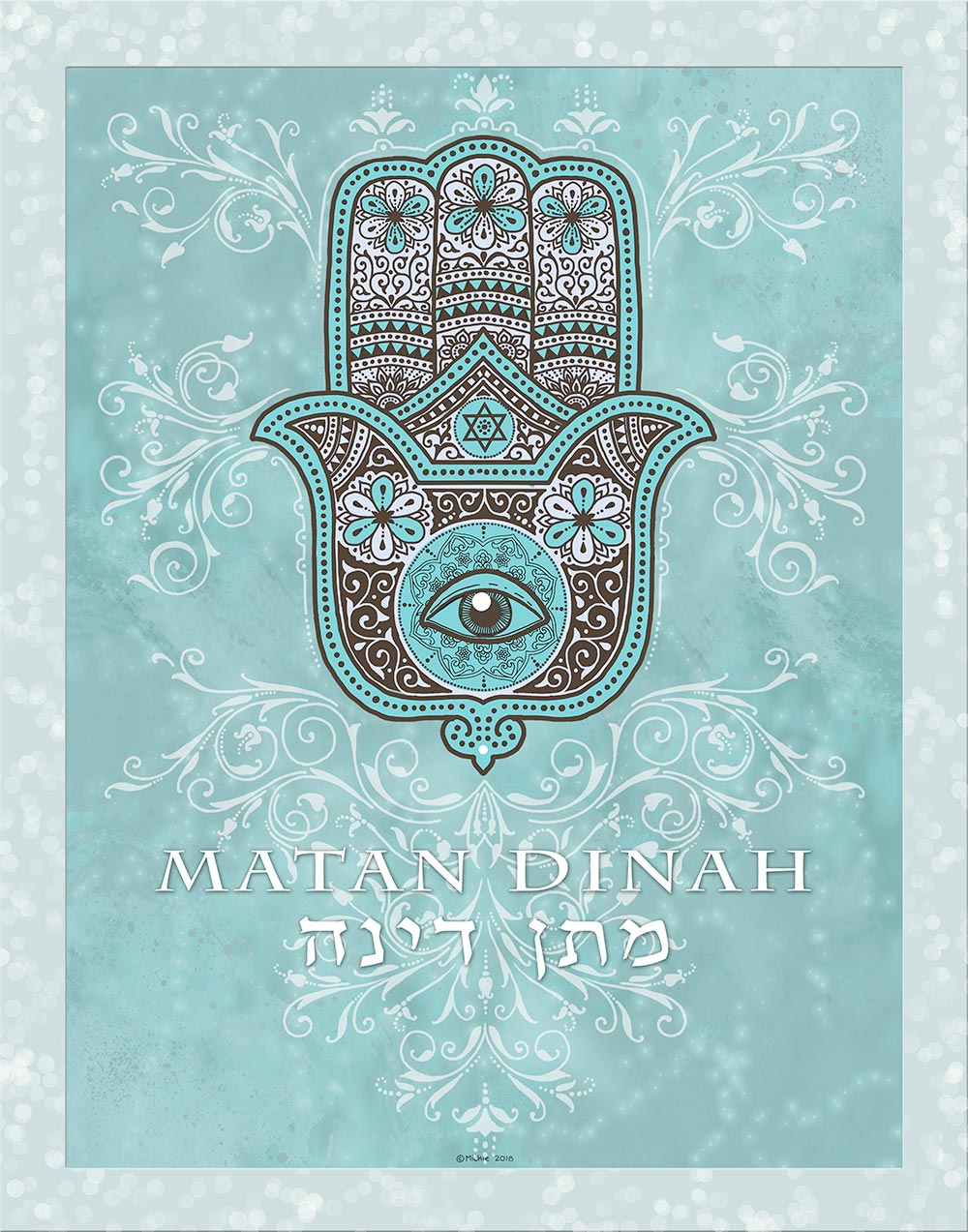 Hamsa Kids Names Art by Mickie Caspi