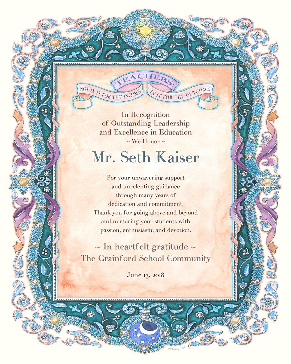 Teacher Appreciation Parchment SLATE
