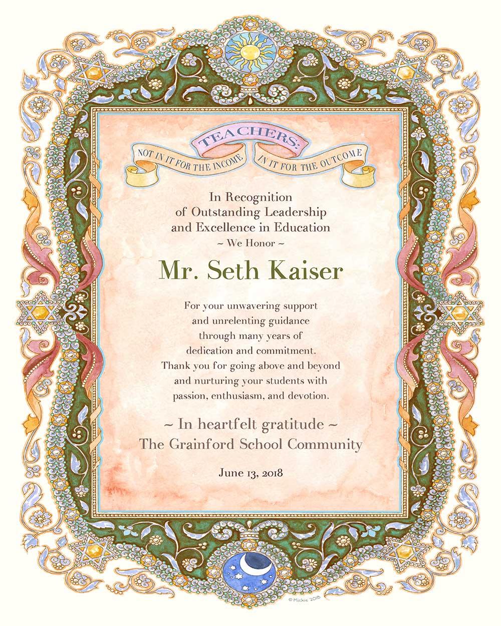 Teacher Appreciation Parchment MOSS