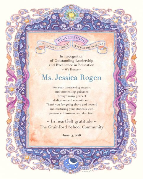 Teacher Appreciation Parchment VIOLET