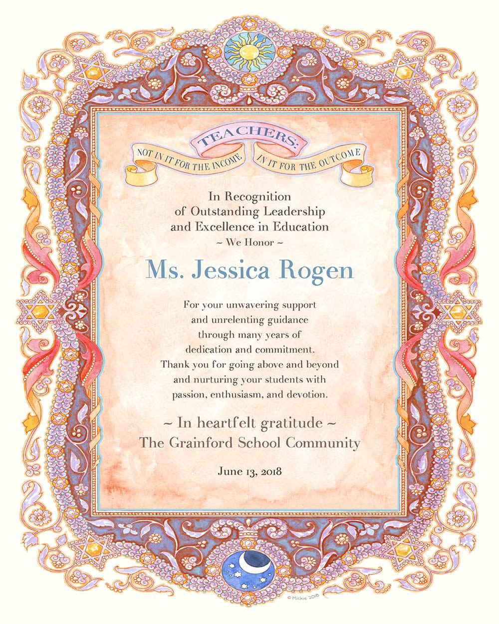 Teacher Appreciation Parchment PLUM