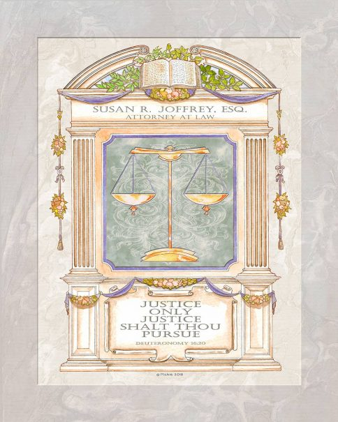 Personalized Lawyers Creed Justice