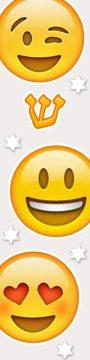 MZ144 Smiley Stars Mezuzah by Mickie Caspi