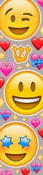 MZ145 Smiley Hearts Mezuzah by Mickie Caspi