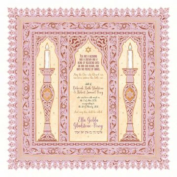 Baby Girl Classic Pink Baby Wall Art by Mickie Caspi