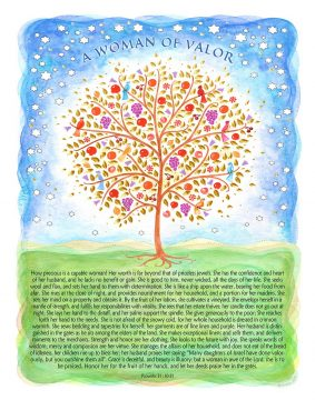 Woman of Valor Tree of Life BLUE