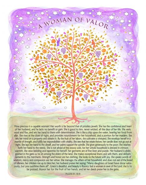 Woman of Valor Tree of Life VIOLET