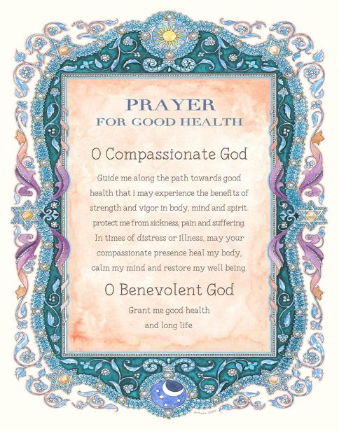 Prayer for Good Health Parchment by Mickie ENGLISH