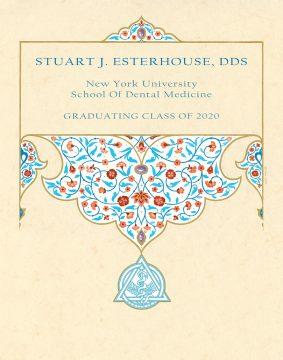 Personalized Dentist Graduate Arabesque Gift by Mickie Caspi Aqua