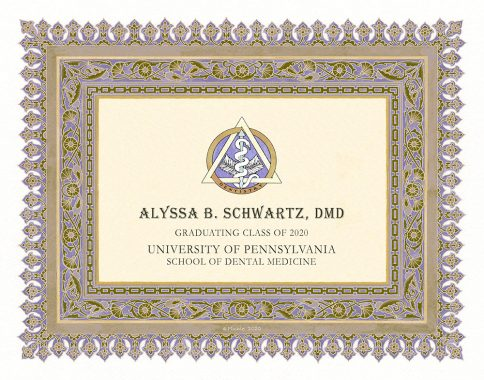 Personalized Dentist Graduate Diploma Gift by Mickie Caspi Twilight