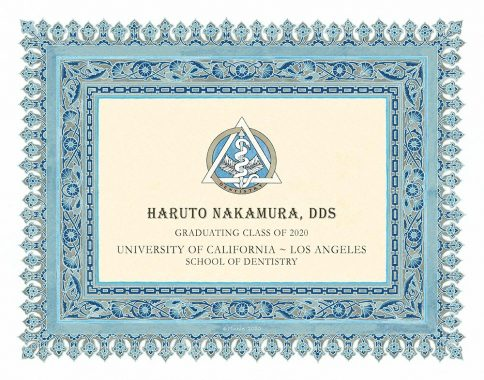 Personalized Dentist Graduate Diploma Gift by Mickie Caspi Ocean