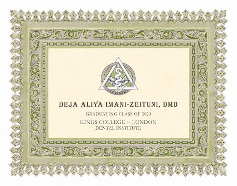 Personalized Dentist Graduate Diploma Gift by Mickie Caspi Leaf