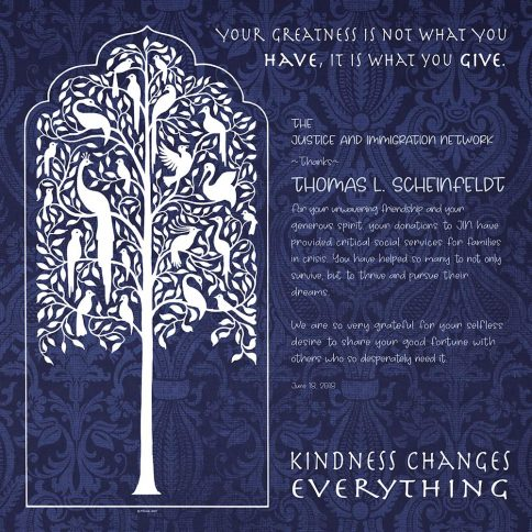 Personalized Honoree Presentation Tree of Life Gift by Mickie Caspi Indigo