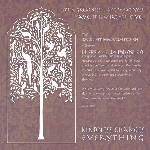 Personalized Honoree Presentation Tree of Life Gift by Mickie Caspi Blush