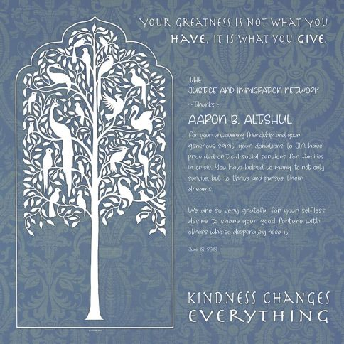 Personalized Honoree Presentation Tree of Life Gift by Mickie Caspi Silver