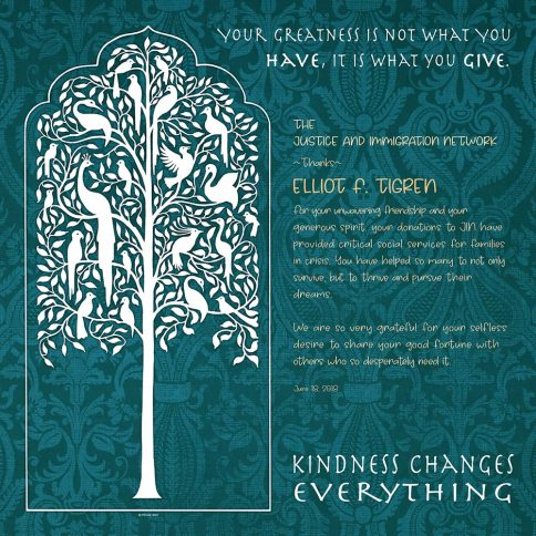 Personalized Honoree Presentation Tree of Life Gift by Mickie Caspi Veridian
