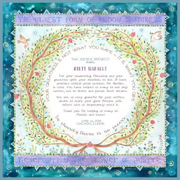 Personalized Honoree Presentation Eden Gift by Mickie Caspi Teal