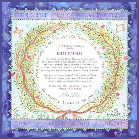 Personalized Honoree Presentation Eden Gift by Mickie Caspi Ultramarine