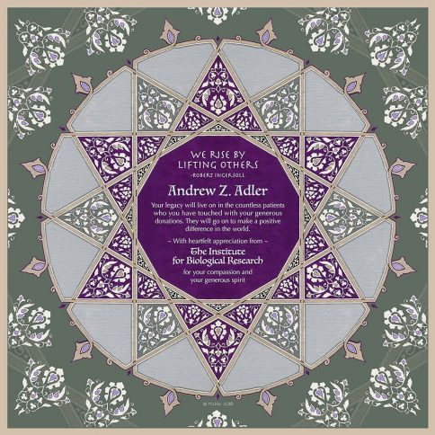 Personalized Honoree Presentation Geometric Star Gift by Mickie Caspi Purple