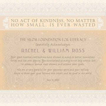 Personalized Honoree Presentation Parchment Gift by Mickie Caspi Antique