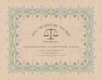 Personalized Lawyers Creed Graduate Parchment Leaf