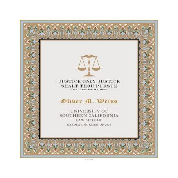 Personalized Lawyers Creed Graduate Diploma Tawny
