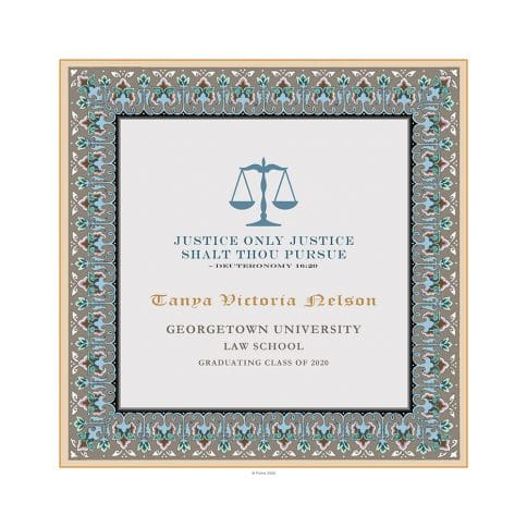 Personalized Lawyers Creed Graduate Diploma Taupe