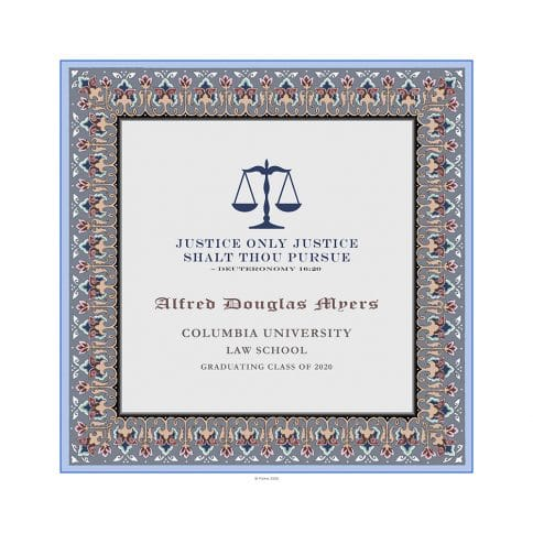 Personalized Lawyers Creed Graduate Diploma Grey