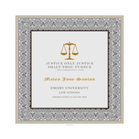 Personalized Lawyers Creed Graduate Diploma Fog