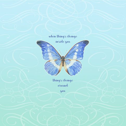 Personalized Bat Mitzvah Butterfly by Mickie Caspi Things Change
