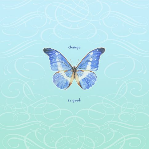Personalized Bat Mitzvah Butterfly by Mickie Caspi Change is Good