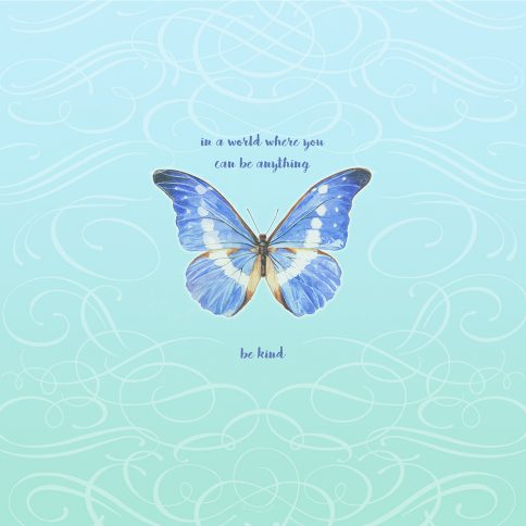 Personalized Bat Mitzvah Butterfly by Mickie Caspi Be Kind