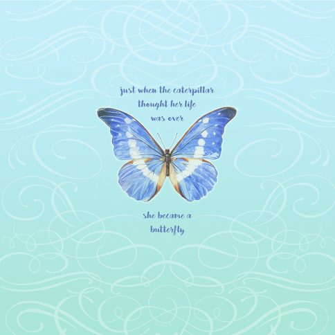 Personalized Bat Mitzvah Butterfly by Mickie Caspi She Became