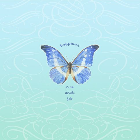 Personalized Bat Mitzvah Butterfly by Mickie Caspi Happiness