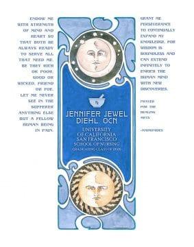 Personalized Nurse Prayer Celestial Blue