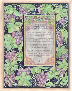 Business Blessing Vineyard Custom Giclée by Mickie Caspi