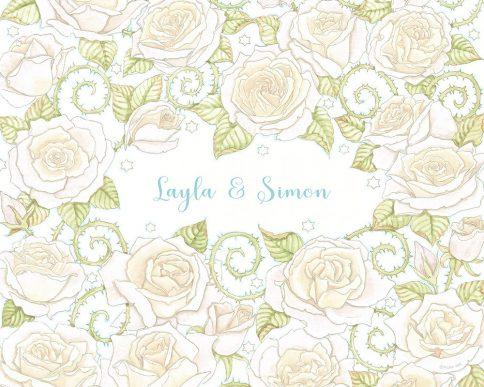 Roses Lovers Gift White by Mickie Caspi