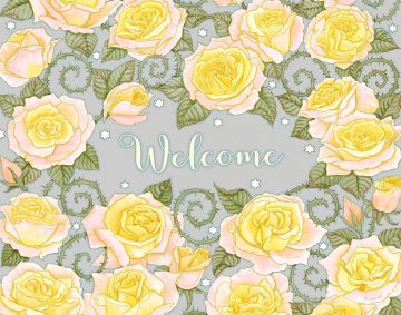 Roses New Home Blessing Golden Custom Fine Art Print by Mickie Caspi