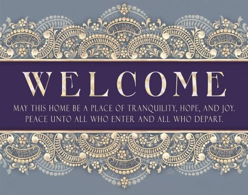 Etched Glass New Home Blessing Antique Custom Fine Art Print by Mickie Caspi