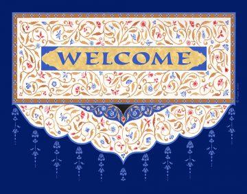 Eastern New Home Blue Blessing Custom Fine Art Print by Mickie Caspi