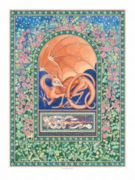 Dragons Spring Wall Art Custom Fine Art Print by Mickie Caspi